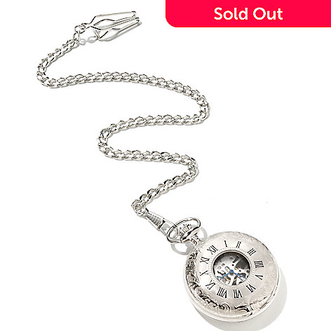 619-440 - Stührling Original Montres De Poche Orleans Mechanical Stainless Steel Pocket Watch