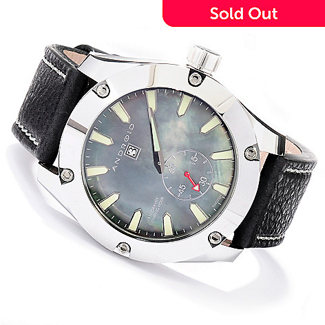 619-448 - Android Men's Antigravity Limited Edition Jumping Hour Automatic Leather Strap Watch