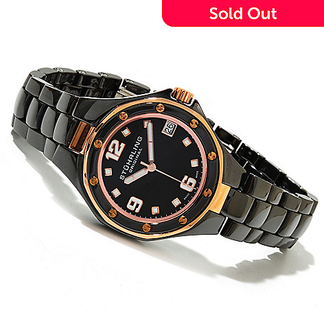 619-470 - Stührling Original Women's Gala Swiss Made Quartz Ceramic Bracelet Watch