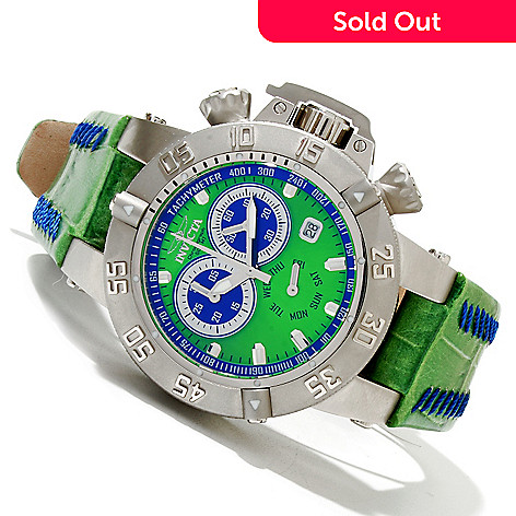 619-493 - Invicta Women's Subaqua Noma III Quartz Chronograph Stainless Steel Leather Strap Watch