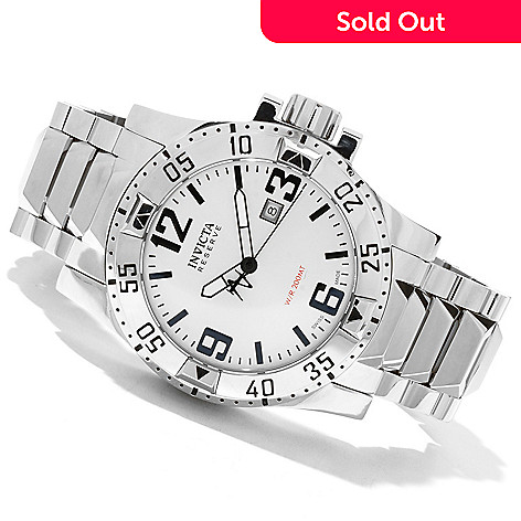 619-496 - Invicta Reserve Men's Excursion Swiss Quartz Stainless Steel Bracelet Watch w/ Eight-Slot Dive Case