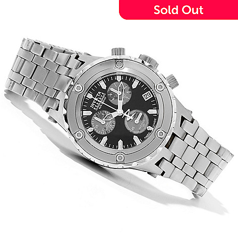 619-498 - Invicta Reserve Mid-size Specialty Subaqua Swiss Made Quartz Bracelet Watch w/ 8-Slot Dive Case