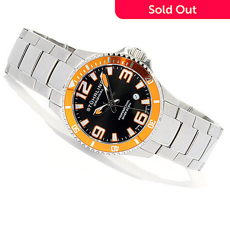 619-503 - Stührling Original Men's Regatta Elite Quartz Stainless Steel Bracelet Watch