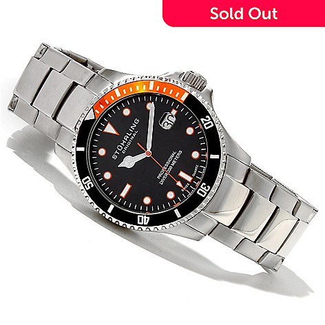 619-526 - Stührling Original Men's Regatta Quartz Stainless Steel Bracelet Watch