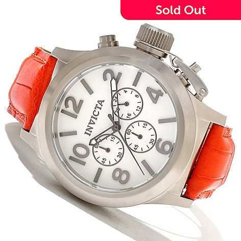 619-527 - Invicta Men's Corduba Quartz Chronograph Alligator Strap Watch