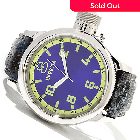 619-532 - Invicta 52mm Russian Diver Quartz Stainless Steel Wolffish Strap Watch