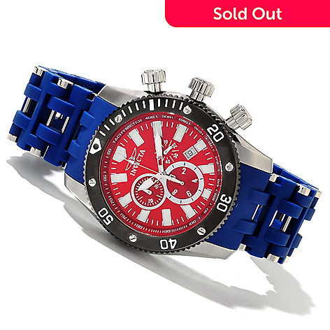 619-542 - Invicta Men's Sea Spider Quartz Chronograph Stainless Steel & Polyurethane Bracelet Watch