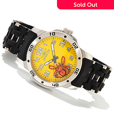 619-543 - Invicta Men's Sea Spider Quartz Stainless Steel & Polyurethane Bracelet Watch