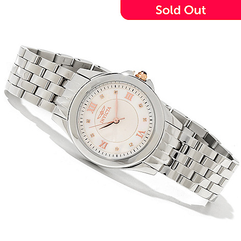 619-548 - Invicta Women's Angel Quartz Mother-of-Pearl Dial Stainless Steel Bracelet Watch