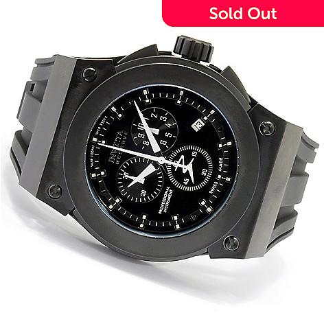 619-554 - Invicta Reserve Men's Akula Swiss Quartz Chronograph Silicone Strap Watch w/ 3-Slot Dive Case