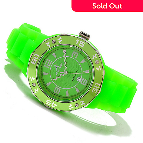 619-565 - Adee Kaye Women's Quartz Electrico Rubber Strap Watch