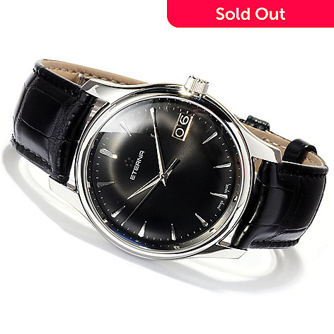 619-624 - Eterna Men's Vaughan Swiss Made Automatic Alligator Strap Watch