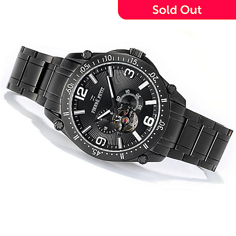 619-628 - Pierre Petit Men's Serie Le Automatic Open Heart Stainless Steel Bracelet Watch