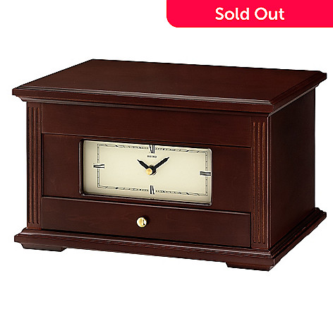 619-636 - Seiko Wooden Jewelry Case Desk Clock