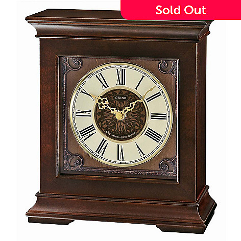619-637 - Seiko Westminster Whittington Ornamental Dial Desk Clock