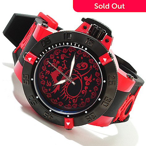 619-638 - Invicta Men's Subaqua Noma III Dragon Dynasty Quartz Silicone Strap Watch
