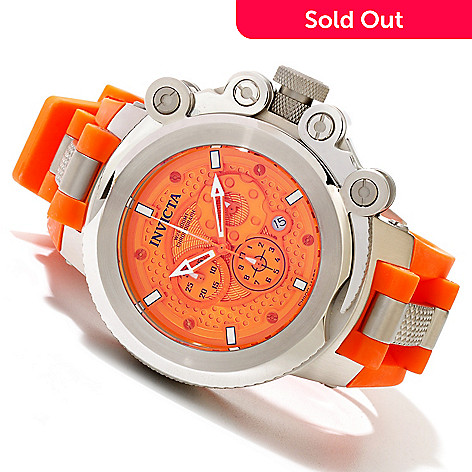 619-641 - Invicta Men's Coalition Forces Swiss Quartz Chronograph Stainless Steel Polyurethane Strap Watch