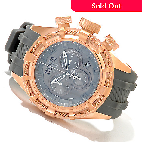 619-642 - Invicta Reserve Men's Bolt Sport Swiss Quartz Chronograph Stainless Steel Silicone Strap Watch