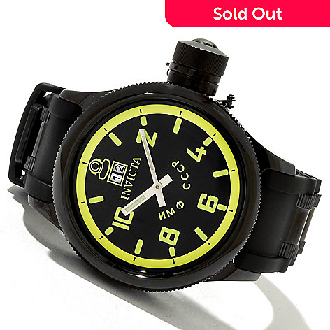 619-646 - Invicta Men's Russian Diver Quinotar Quartz Stainless Steel Strap Watch w/ 3-slot Dive Case