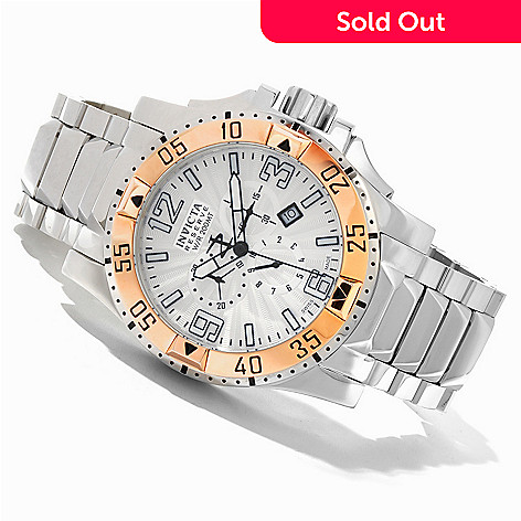 619-662 - Invicta Reserve 50mm Swiss Quartz Chronograph Stainless Steel Bracelet Watch