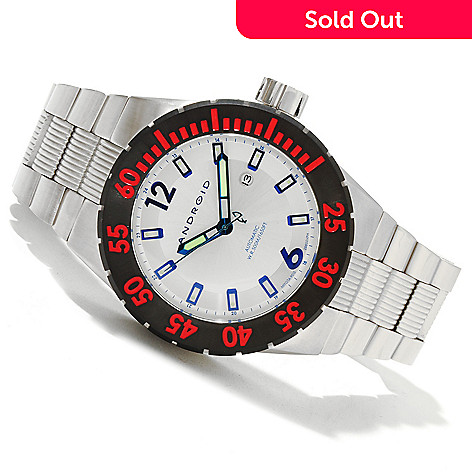 619-688 - Android Men's DM Contender 9015 Automatic Stainless Steel Bracelet Watch