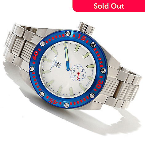 619-693 - Android Men's Powerjet Automatic Jumping Hour Stainless Steel Bracelet Watch