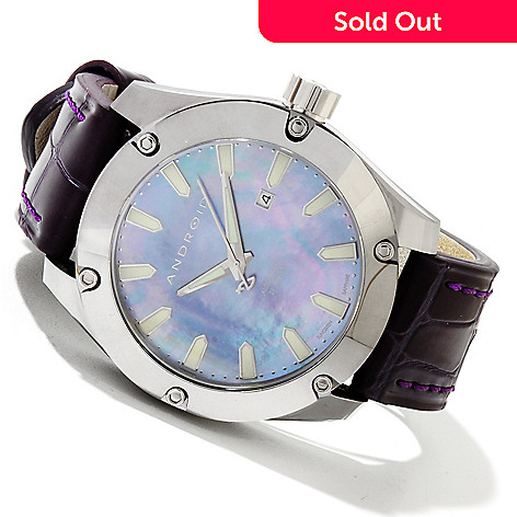 619-694 - Android Men's Anti-Gravity Limited Edition Automatic Tungsten Leather Strap Watch