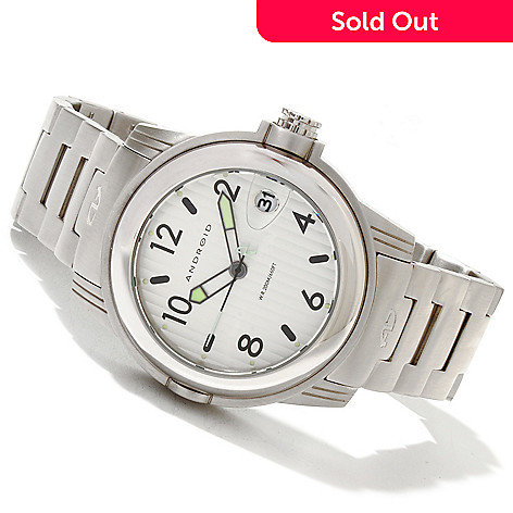 619-695 - Android Men's Decoy 2 Quartz Stainless Steel Bracelet Watch