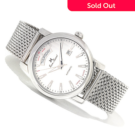 619-700 - Jean Marcel Men's Clarus Limited Edition Swiss Made Automatic Mesh Bracelet Watch