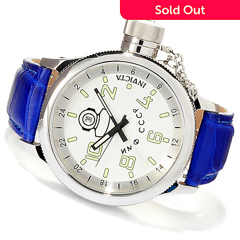 619-709 - Invicta Men's Russian Diver Quartz GMT Alligator Strap Watch