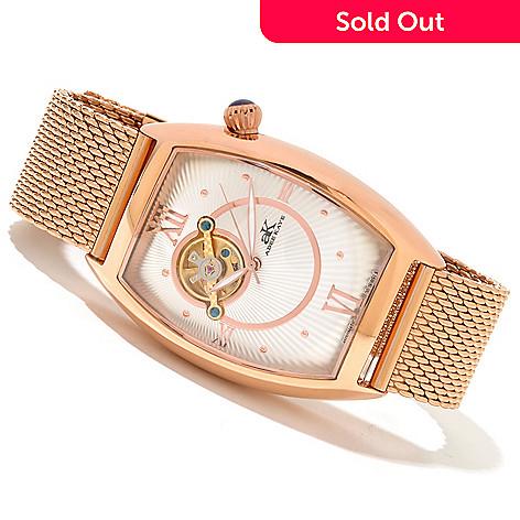 619-781 - Adee Kaye Men's Wall Street Automatic Stainless Steel Bracelet Watch