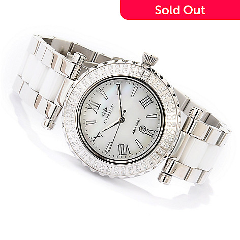 619-786 - Oniss Women's Glamour Quartz Austrian Crystal Ceramic Bracelet Watch