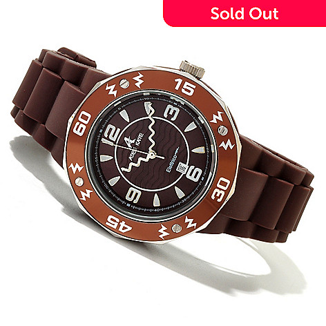 619-793 - Adee Kaye Women's Electrico Quartz Rubber Strap Watch