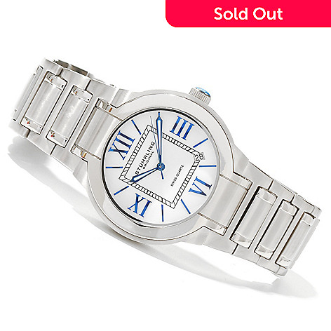 619-800 - Stührling Original Men's Tribune Quartz Stainless Steel Bracelet Watch