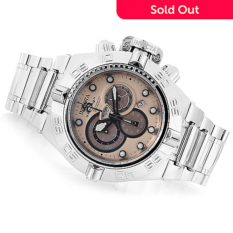 619-817 - Invicta 50mm Subaqua Noma IV Swiss Quartz Chronograph High Polish Stainless Steel Bracelet Watch