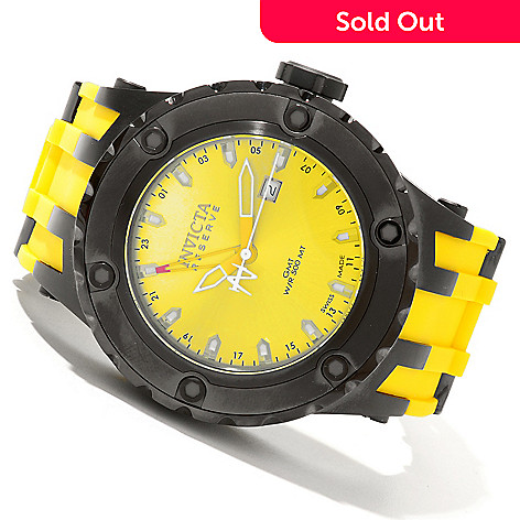 619-820 - Invicta Reserve 52mm Specialty Subaqua Swiss Quartz GMT Polyurethane Strap Watch