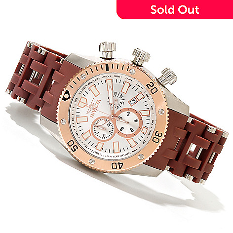 619-821 - Invicta Men's Sea Spider Quartz Chronograph Polyurethane & Stainless Steel Bracelet Watch