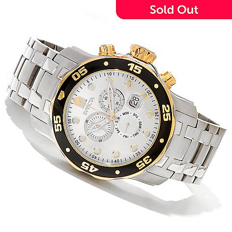 619-822 - Invicta 48mm Pro Diver Scuba Quartz Chronograph Stainless Steel Bracelet Watch