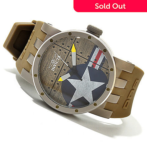 619-823 - Invicta Men's DNA ''BOMBER'' Quartz Titanium Silicone Strap Watch