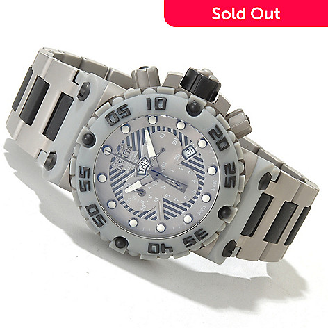 619-834 - Invicta Men's Subaqua Nitro Swiss Made Quartz Chronograph Bracelet Watch w/ 8-Slot Dive Case