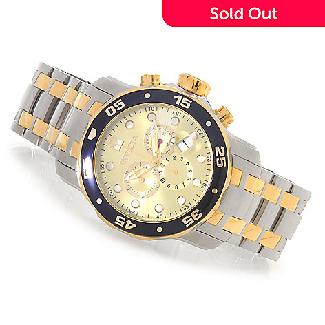 619-911 - Invicta 48mm Pro Diver Scuba Quartz Chronograph Stainless Steel Bracelet Watch