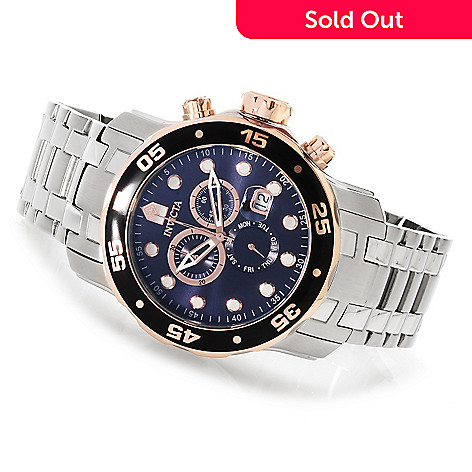 619-912 - Invicta 48mm Pro Diver Scuba Quartz Chronograph Stainless Steel Bracelet Watch