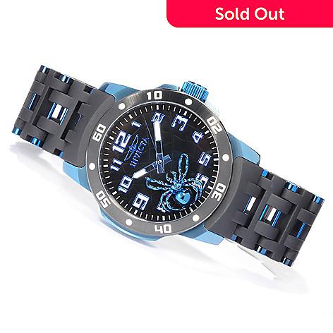 619-913 - Invicta Men's Sea Spider Quartz Stainless Steel & Polyurethane Bracelet Watch