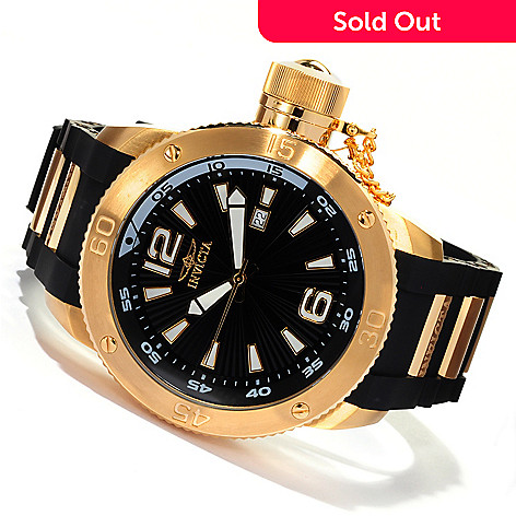 619-914 - Invicta Men's I Force Quartz Stainless Steel Polyurethane Strap Watch w/ 3-Slot Dive Case