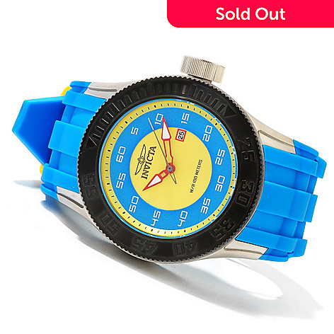 619-919 - Invicta Men's Pro Diver XL Stainless Steel Polyurethane Strap Watch w/ 8-Slot Dive Case