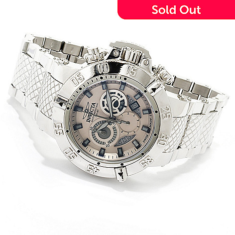 619-923 - Invicta 50mm Subaqua Noma III Swiss Made Chronograph High Polish Stainless Steel Bracelet Watch
