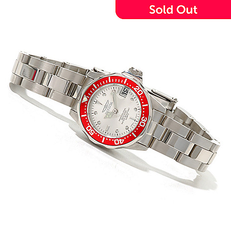 619-932 - Invicta Women's Mini Pro Diver Quartz Stainless Steel Bracelet Watch