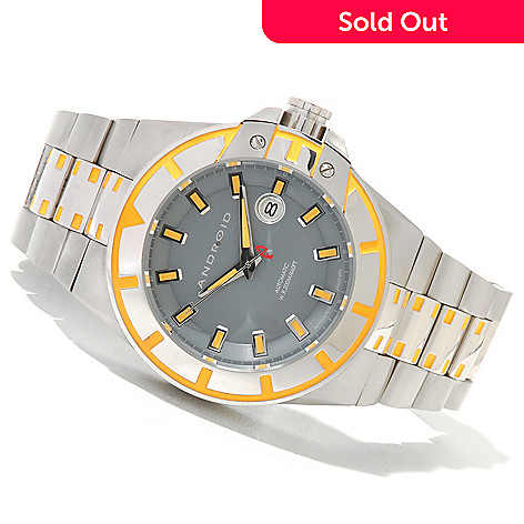 619-933 - Android Men's Bioluminescence Automatic Stainless Steel Bracelet Watch