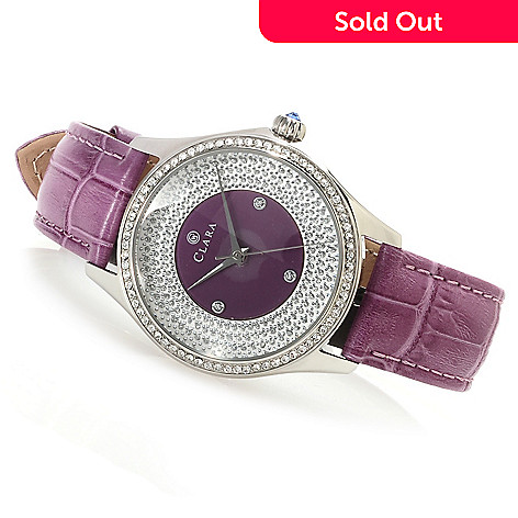 619-938 - Clara by CW Women's Quartz Strap Watch Made w/ Swarovski® Elements