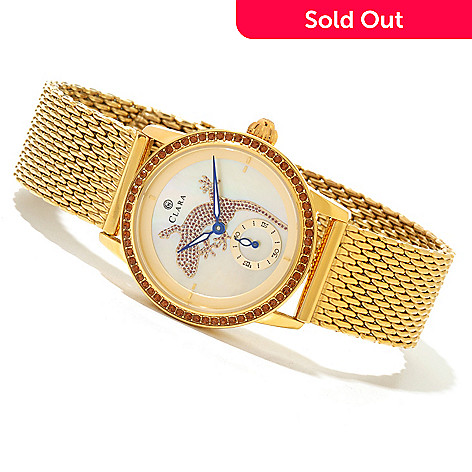 619-943 - Clara by CW Women's Lizard Quartz Bracelet Watch Made w/ Swarovski® Elements